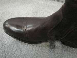 DINO BIGIONI ITALY SHOE BROWN LEATHER SUEDE FUR LINED BOOTS SOFT SOLE