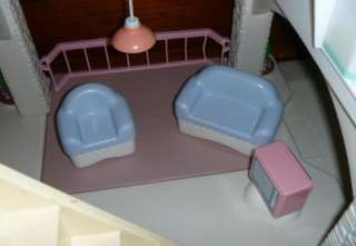 Grandmas Blue Roof Little Tikes Dollhouse+ 32 Accessories Including