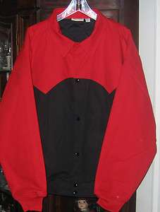 """Lined Jacket Black Red Coat XL Chest 28.5"""" Outerwear New"""