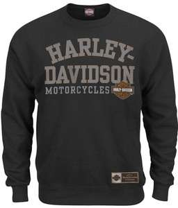 Harley Davidson Mens Owners Club Black Long Sleeve Pullover Crew