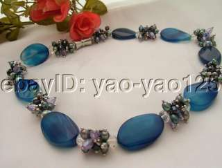 Excellent Pearl&Crystal&Agate Necklace