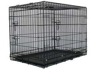 30Two Door Folding Dog Pet Crate Cage Kennel w/Divider