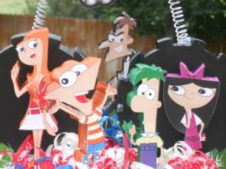 Phineas and Ferb Cake Topper Birthday Party Centerpiece Cupcake