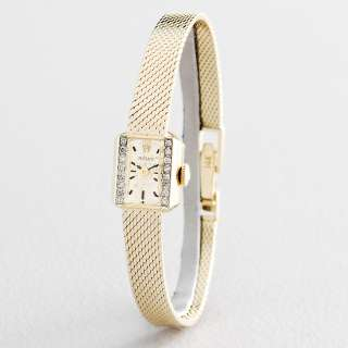 Ladies Rolex Vintage Deco Solid 14K Yellow Gold Diamond Watch