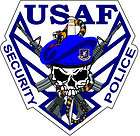 STICKER USAF Air Force Security Police Logo
