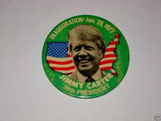 JIMMY CARTER Pin pinback badge button Inauguration 1977