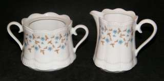 FLORAL FLOWER BAVARIA SUGAR BOWL CREAMER CREAM MILK PITCHER SET