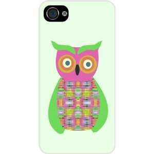 Green Owl Patchwork White Hard Case Cover for Apple iPhone® 4