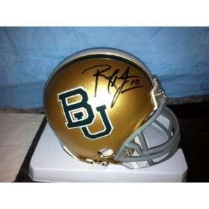 Robert Griffin III Autographed Hand Signed Baylor Mini Helmet RGIII