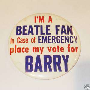 Barry Goldwater Campaign pin pinback button BEATLES