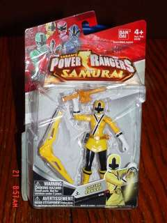 Power Rangers Super Samurai Earth Ranger 4 Yellow Action Figure New