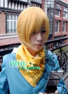 Styish Short Yellow Blonde Straight Cosplay Hair Wig