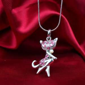 Fashion Jewelry ~ Hello Kitty Pink Rhinestone Necklace (Style Ht 1348