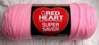 RED HEART SUPER SAVER YARN #0373 BABY petal pink 7 Ounce skein WORSTED