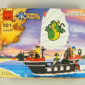 Sunken pirate ship boat Building Block Brick set #301