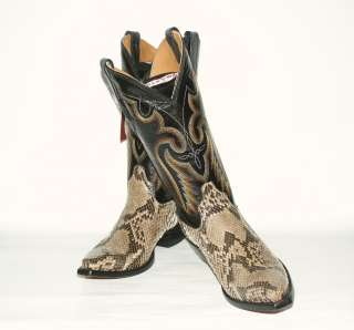 280 Mens Resistol Ranch Western Boots M3038 Natural Belly Cut Python