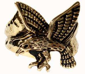 Mens Flying Eagle 18kt Gold Plated Ring New