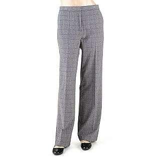 Womens Windowpane Pants  Sag Harbor Clothing Womens Pants
