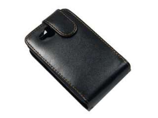 New Black Flip Leather Case Cover Pouch for HTC Wildfire S A510e G13