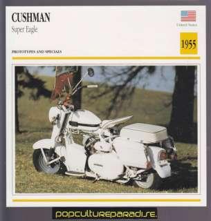 1955 1965 CUSHMAN Super Eagle 350 cc BIKE SCOOTER CARD