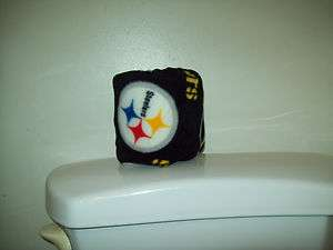 PITTSBURGH STEELERS BLACK TOILET PAPER COVER