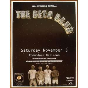 Beta Band Original Vancouver Concert Poster 2001