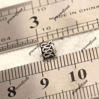 20pcs Tube Tibetan Silver Spacer Beads Crafts Jewelry Findings Fit DIY