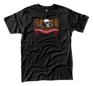 Blind POWELL RIPPER SPOOF Skateboard Shirt BLACK MED