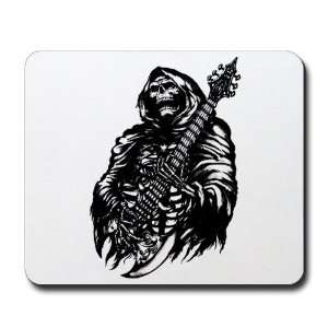 Mousepad (Mouse Pad) Grim Reaper Heavy Metal Rock Player