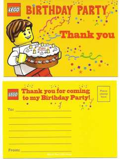 NEW* 10 LEGO Birthday THANK YOU Postcard NOTE CARD