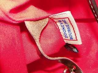 AUTHENTC DOONEY & BOURKE BROWN LEATHER EAST WEST HOBO SHOULDER BAG