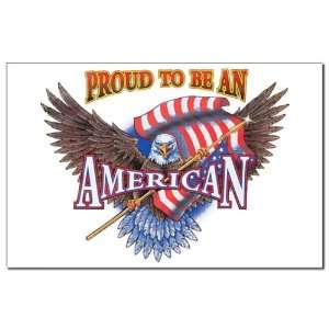 Mini Poster Print Proud To Be An American Bald Eagle and