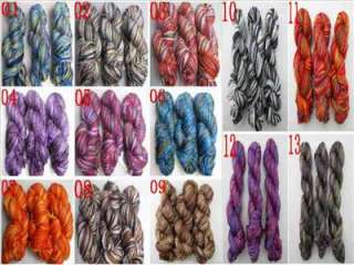 Wholesale Multi Colored soft 150g hand dyed wool Acrylic knitting yarn