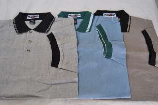 Mens 24/7 Lifestyle Polo Golf Shirt   Brown Blue or Gray L or XL (NEW
