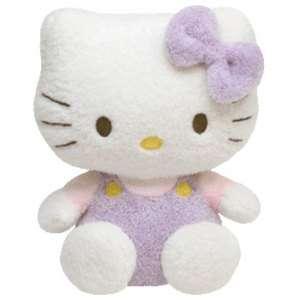 Ty Beanie Hello Kitty Purple 8 inch soft Pluffie