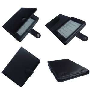HappyZone   (Black) Portfolio Leather Case Cover For  Kindle