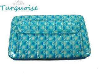 New Fashion Lady Womens Gorgeous Embossed Leather Flat Clutch Wallet