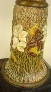 ANTIQUE VICTORIAN OIL LAMP BANNER BURNER GLASS POTTERY