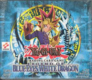 Upper Deck Yu Gi Oh Blue Eyes White Dragon 1st Edition Booster Box
