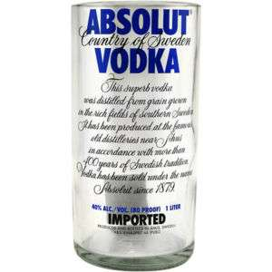Absolut Vodka Recycled Bottle Pint Tumbler   30 oz.