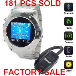 Watch Cell Phone Mobile Stainless FM Camera /4 W968