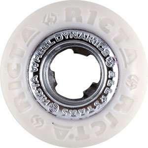 Ricta All Star 53mm   White/Chrome Skateboard Wheels (Set