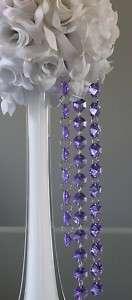 24 Purple Faux CRYSTAL GARLAND WEDDING DECORATIONS
