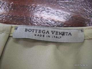 Bottega Veneta Khaki Sleeveless Belted Dress 42