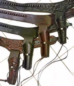 WESTERN Cowboy Gun Belt HOLSTER RIG   Hand Tooled   Better Than a