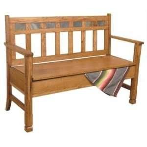 Sunny Designs 1594RO Sedona Deacons Bench with Storage