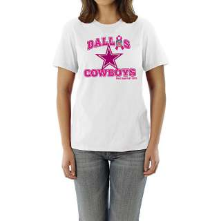 Reebok Dallas Cowboys Breast Cancer Awareness Womens Ribbon Esque