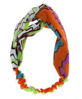 null (Multi Col) Neon Aztec Patterned Twisted Head Band  247129399