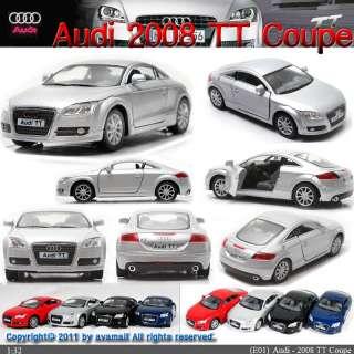 Audi 2008 TT Coupe 132 Color selection Diecast Mini Cars Toys