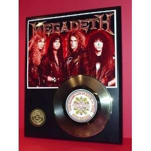 Megadeth 24kt Gold Record LTD Edition Display ***FREE